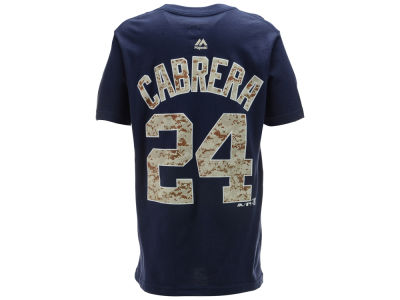 Detroit Tigers Miguel Cabrera MLB Youth Camo Player T-Shirt
