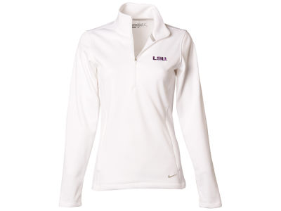 LSU Tigers Nike NCAA Women's Half Zip Therma Cover Up Pullover Shirt