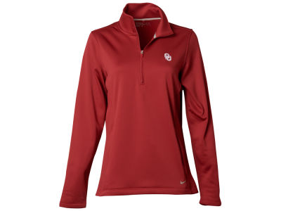 Oklahoma Sooners Nike NCAA Women's Half Zip Therma Cover Up Pullover Shirt