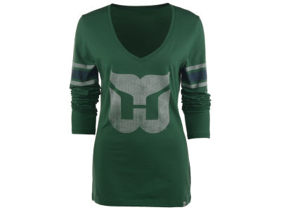 Hartford Whalers '47 NHL Womens Homerun Long Sleeve T-Shirt