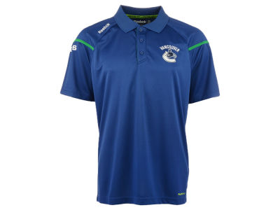 Vancouver Canucks Reebok NHL Men's Center Ice Polo Shirt