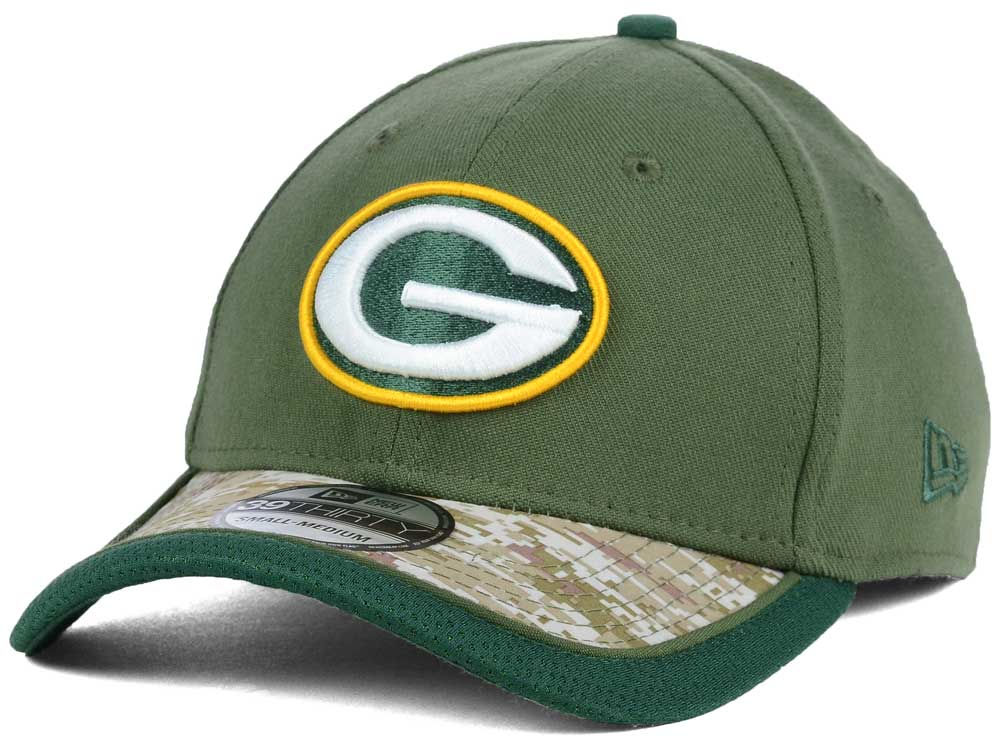 57bd676d7 Green Bay Packers New Era NFL Salute to Service 39THIRTY Cap