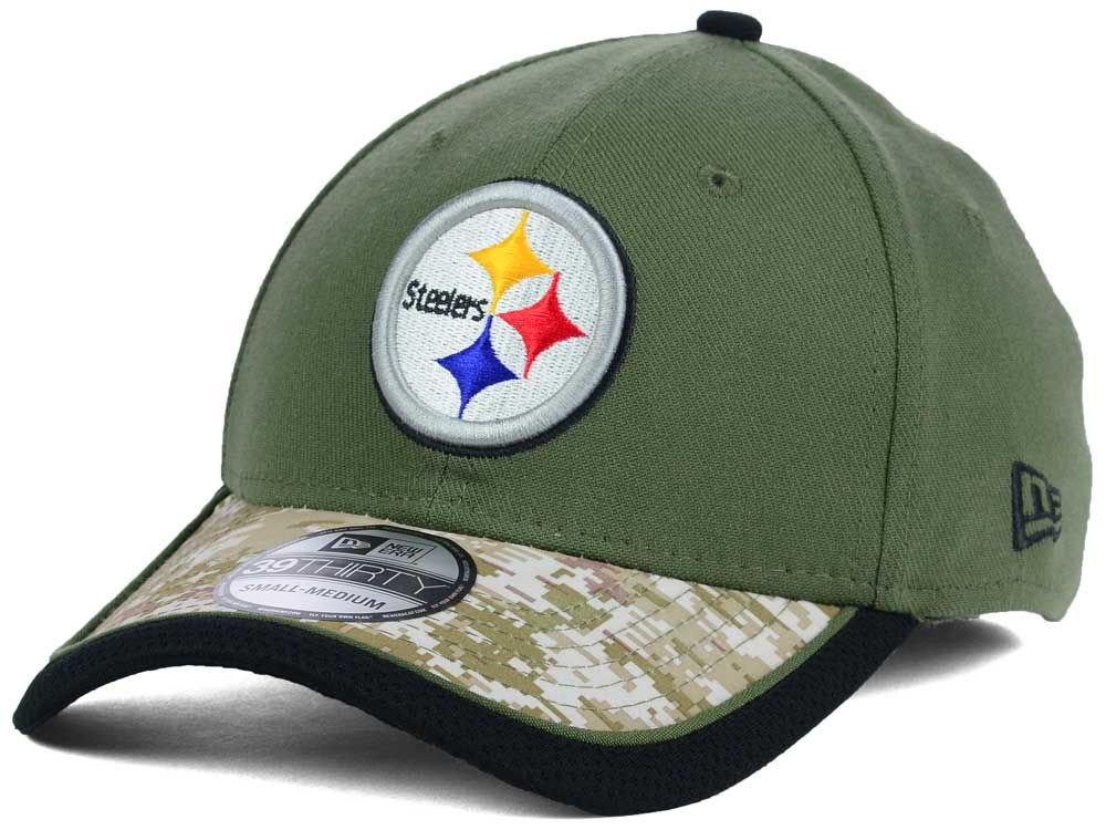 Pittsburgh Steelers New Era NFL Salute to Service 39THIRTY Cap ... 6b5aa3d35