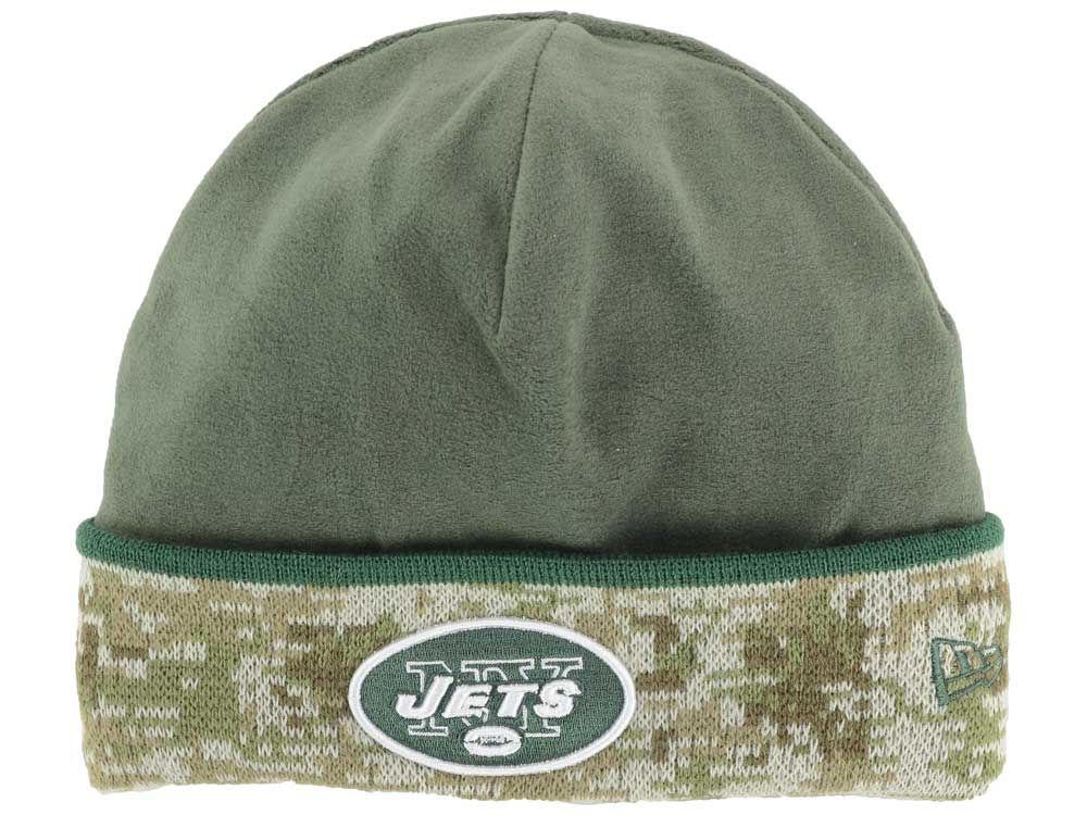 watch c0ee4 5d192 New York Jets New Era NFL Salute to Service Knit   lids.com