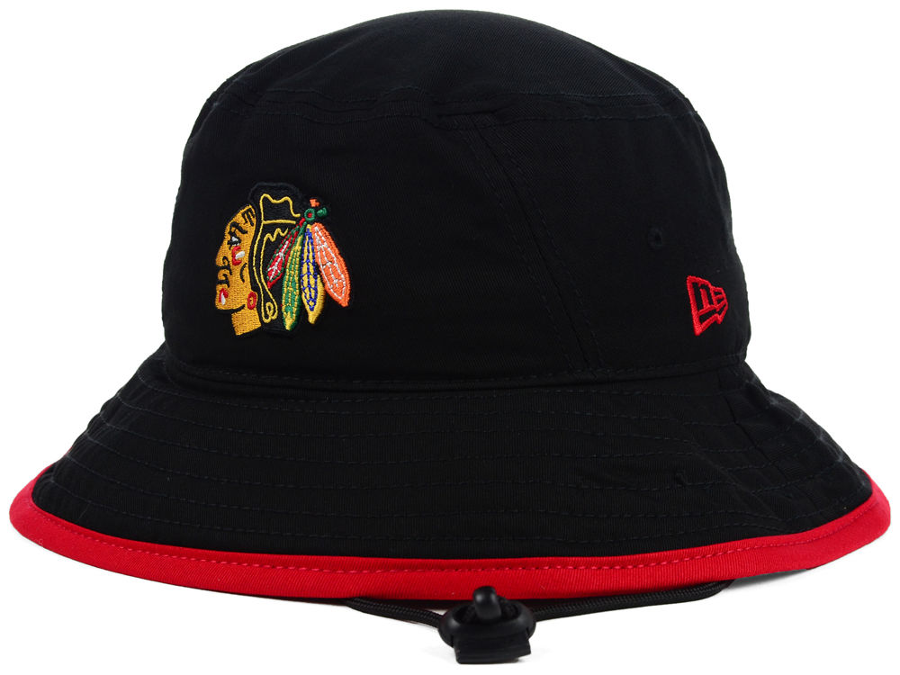 Chicago Blackhawks New Era NHL Basic Tipped Bucket  bd1f071c7b3