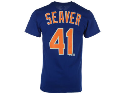New York Mets Tom Seaver Majestic MLB Men's Cooperstown Player T-Shirt