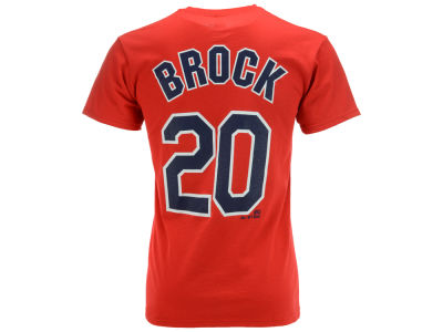 St. Louis Cardinals Lou Brock Majestic MLB Men's Cooperstown Player T-Shirt