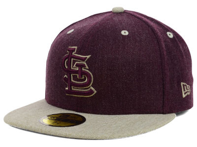 St. Louis Cardinals New Era MLB Heather Mashup 59FIFTY Cap