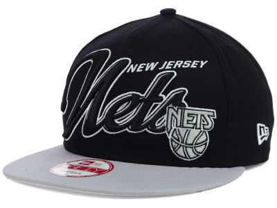 New Jersey Nets New Era NBA HWC Black-Top 9FIFTY Snapback Cap