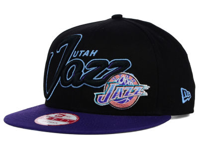 Utah Jazz New Era NBA HWC Black-Top 9FIFTY Snapback Cap