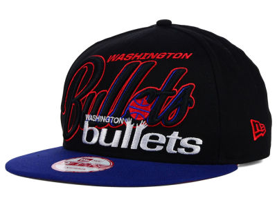 Washington Bullets New Era NBA HWC Black-Top 9FIFTY Snapback Cap