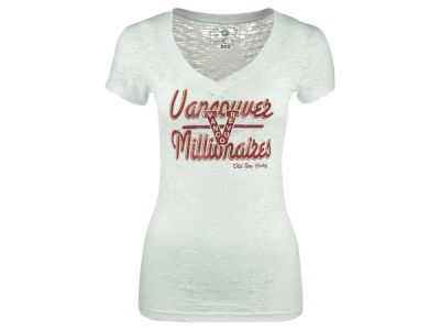 Vancouver Canucks Old Time Hockey NHL Women's Karly Burnout T-Shirt
