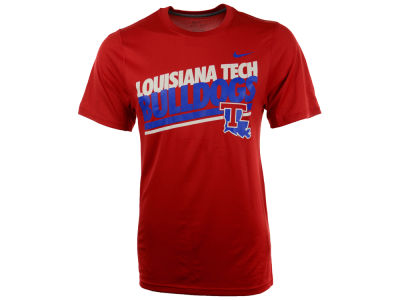 Louisiana Tech Bulldogs Nike NCAA School Double Stripe T-Shirt