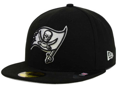 Tampa Bay Buccaneers New Era NFL Black And White 59FIFTY Cap