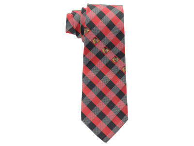 Chicago Blackhawks Polyester Checked Tie