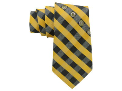 Boston Bruins Polyester Checked Tie