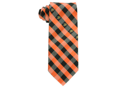 Anaheim Ducks Polyester Checked Tie