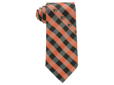 Philadelphia Flyers Polyester Checked Tie