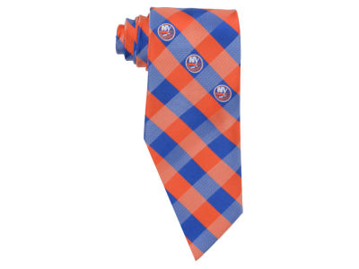 New York Islanders Polyester Checked Tie