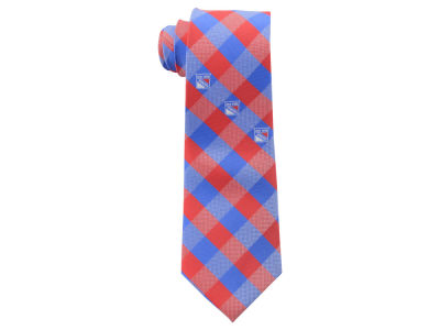 New York Rangers Polyester Checked Tie
