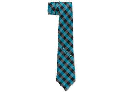 San Jose Sharks Polyester Checked Tie