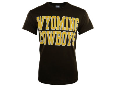 Wyoming Cowboys NCAA Men's Bold Straight T-Shirt