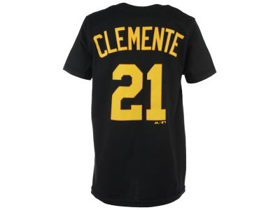 Pittsburgh Pirates Roberto Clemente Majestic MLB Youth Official Player T-Shirt