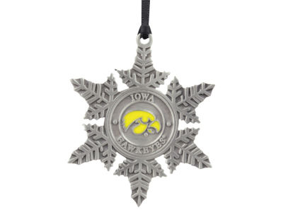 Iowa Hawkeyes Pewter Snowflake Ornament