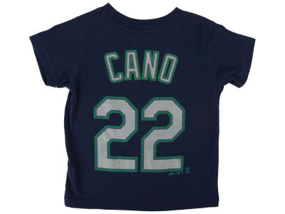 Seattle Mariners Robinson Canó Majestic MLB Toddler Official Player T-Shirt