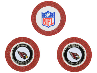 Arizona Cardinals Golf Poker Chip Markers 3 Pack