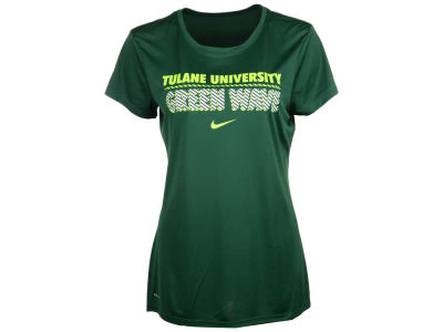 Tulane Green Wave NCAA Womens DF Crew T-Shirt