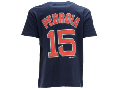 Boston Red Sox Dustin Pedroia MLB Kids Official Player T-Shirt