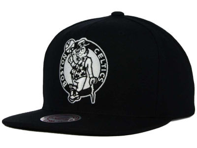 Boston Celtics Mitchell and Ness NBA Team BW Snapback Hat