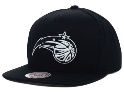 Orlando Magic Mitchell and Ness NBA Team BW Snapback Hat