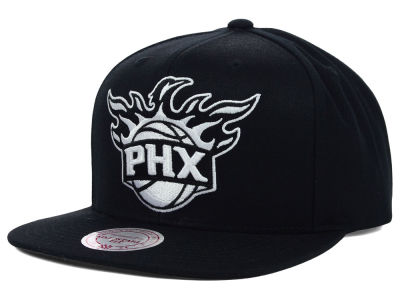 Phoenix Suns Mitchell and Ness NBA Team BW Snapback Hat