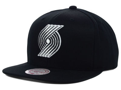 Portland Trail Blazers Mitchell and Ness NBA Team BW Snapback Hat