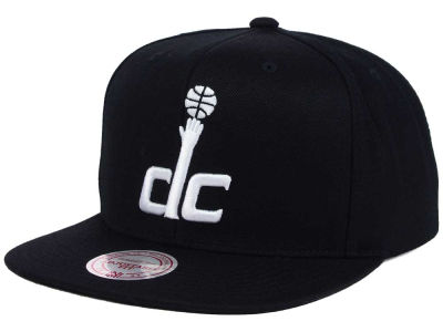 Washington Wizards Mitchell and Ness NBA Team BW Snapback Hat