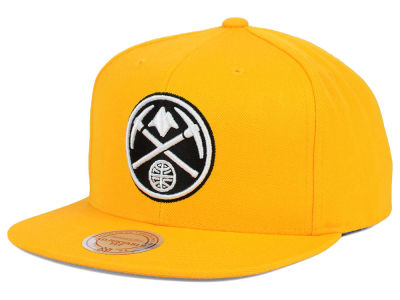 Denver Nuggets Mitchell & Ness NBA Team BW Snapback Hat