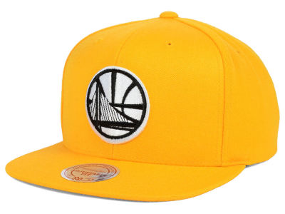 Golden State Warriors Mitchell and Ness NBA Team BW Snapback Hat