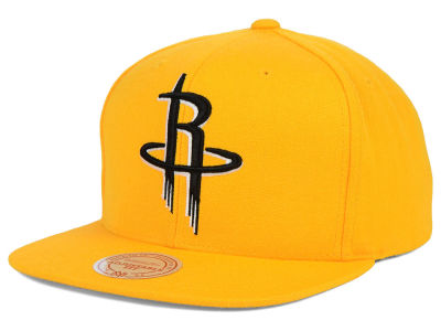 Houston Rockets Mitchell & Ness NBA Team BW Snapback Hat