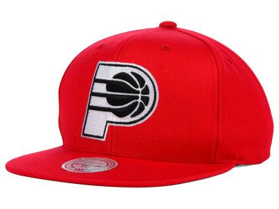 Indiana Pacers Mitchell and Ness NBA Team BW Snapback Hat