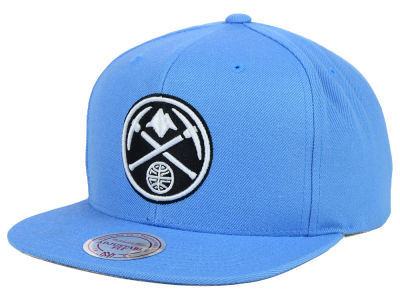 Denver Nuggets Mitchell and Ness NBA Team BW Snapback Hat
