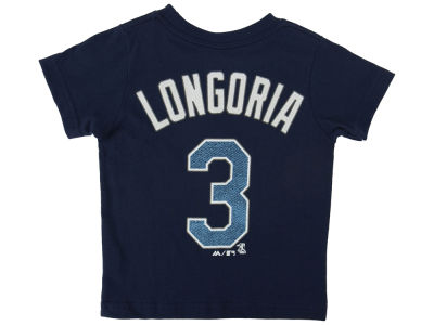 Tampa Bay Rays Evan Longoria Majestic MLB Toddler Official Player T-Shirt