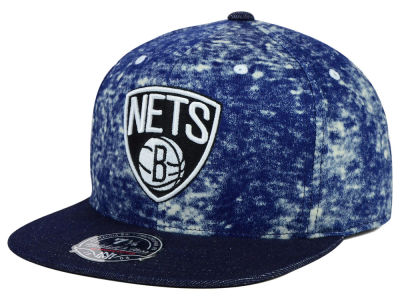 Brooklyn Nets Mitchell and Ness NBA Dirty Denim Fitted Hat