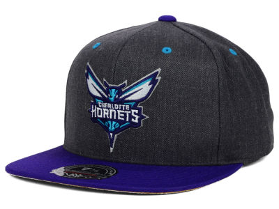 Charlotte Hornets Mitchell and Ness NBA Current Logo Cork Fitted Hat