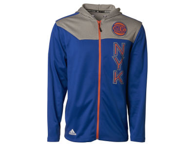 New York Knicks adidas NBA Men's Tip-Off Full Zip Hoodie