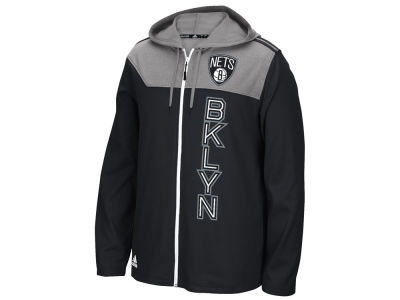 Brooklyn Nets adidas NBA Men's Tip-Off Full Zip Hoodie