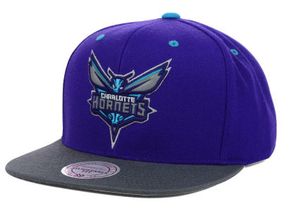 Charlotte Hornets Mitchell and Ness NBA XL Reflective 2 Tone Snapback Hat