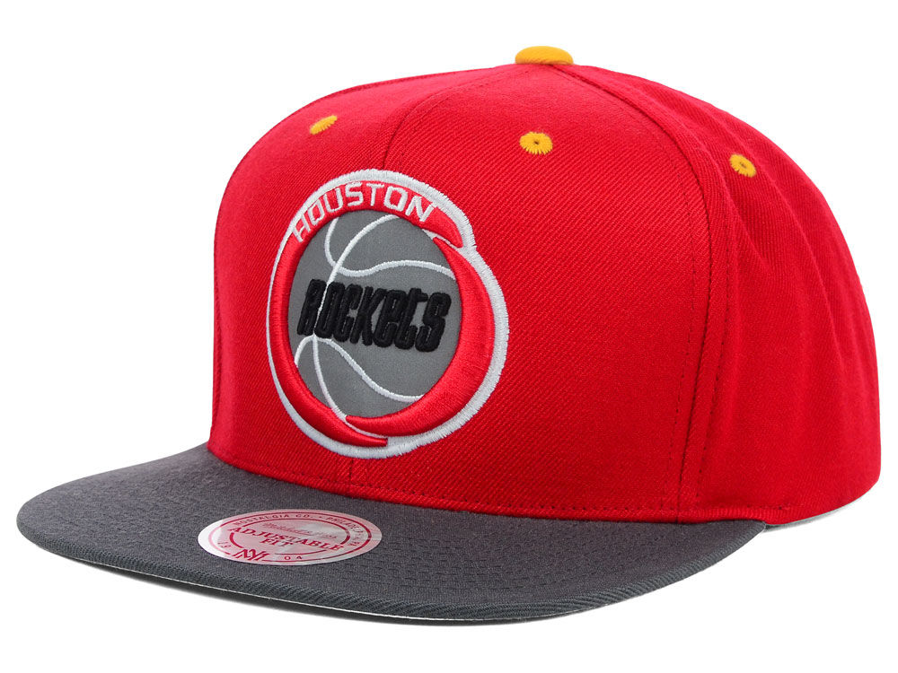 new arrival de8e5 c02e1 ... discount code for houston rockets mitchell ness nba xl reflective 2  tone snapback hat a2592 4f376