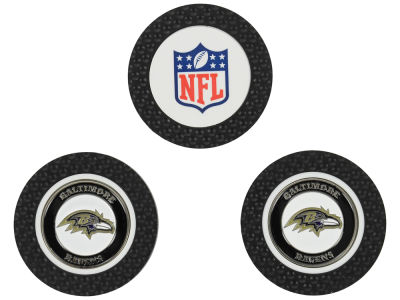 Baltimore Ravens Golf Poker Chip Markers 3 Pack
